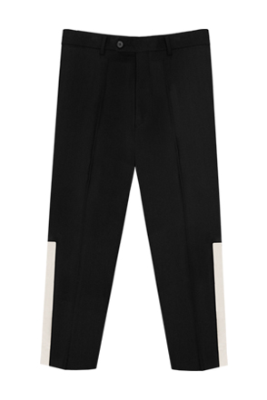 AWESOME IMAGINATION COMBINATION SEMI WIDE SLACKS Black